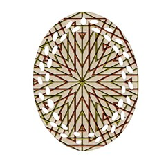 Kaleidoscope Online Triangle Oval Filigree Ornament (two Sides)