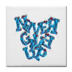 Sport Crossfit Fitness Gym Never Give Up Tile Coasters