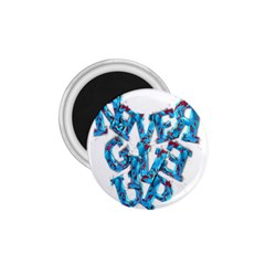 Sport Crossfit Fitness Gym Never Give Up 1 75  Magnets