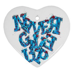 Sport Crossfit Fitness Gym Never Give Up Ornament (heart)