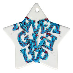 Sport Crossfit Fitness Gym Never Give Up Ornament (Star)