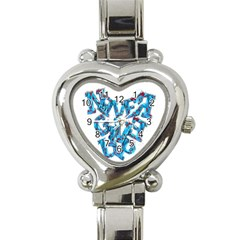 Sport Crossfit Fitness Gym Never Give Up Heart Italian Charm Watch