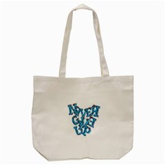 Sport Crossfit Fitness Gym Never Give Up Tote Bag (cream)