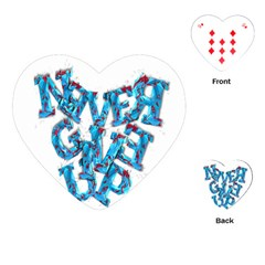 Sport Crossfit Fitness Gym Never Give Up Playing Cards (Heart)