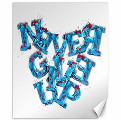 Sport Crossfit Fitness Gym Never Give Up Canvas 16  X 20