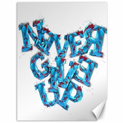 Sport Crossfit Fitness Gym Never Give Up Canvas 36  x 48