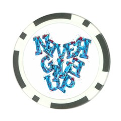 Sport Crossfit Fitness Gym Never Give Up Poker Chip Card Guard