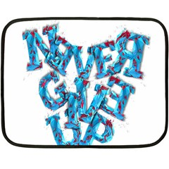 Sport Crossfit Fitness Gym Never Give Up Double Sided Fleece Blanket (Mini)