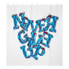 Sport Crossfit Fitness Gym Never Give Up Shower Curtain 66  x 72  (Large)