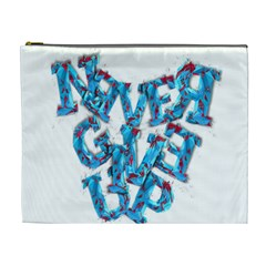 Sport Crossfit Fitness Gym Never Give Up Cosmetic Bag (xl)