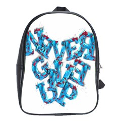 Sport Crossfit Fitness Gym Never Give Up School Bags(large)