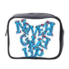 Sport Crossfit Fitness Gym Never Give Up Mini Toiletries Bag 2-Side