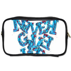 Sport Crossfit Fitness Gym Never Give Up Toiletries Bags 2-Side