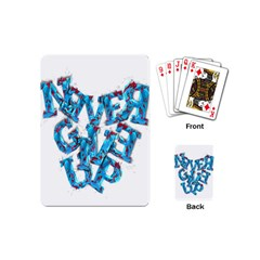 Sport Crossfit Fitness Gym Never Give Up Playing Cards (mini)