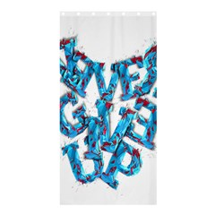 Sport Crossfit Fitness Gym Never Give Up Shower Curtain 36  x 72  (Stall)