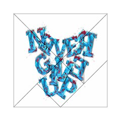 Sport Crossfit Fitness Gym Never Give Up Acrylic Tangram Puzzle (6  X 6 )