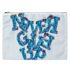 Sport Crossfit Fitness Gym Never Give Up Cosmetic Bag (XXL)