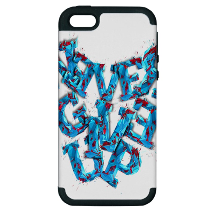 Sport Crossfit Fitness Gym Never Give Up Apple iPhone 5 Hardshell Case (PC+Silicone)
