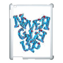 Sport Crossfit Fitness Gym Never Give Up Apple Ipad 3/4 Case (white)