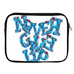 Sport Crossfit Fitness Gym Never Give Up Apple Ipad 2/3/4 Zipper Cases