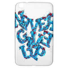 Sport Crossfit Fitness Gym Never Give Up Samsung Galaxy Tab 3 (8 ) T3100 Hardshell Case