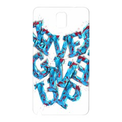 Sport Crossfit Fitness Gym Never Give Up Samsung Galaxy Note 3 N9005 Hardshell Back Case