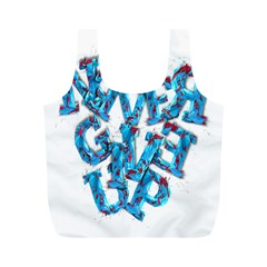 Sport Crossfit Fitness Gym Never Give Up Full Print Recycle Bags (m)