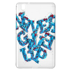 Sport Crossfit Fitness Gym Never Give Up Samsung Galaxy Tab Pro 8 4 Hardshell Case