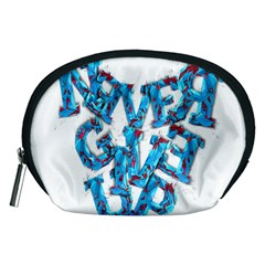 Sport Crossfit Fitness Gym Never Give Up Accessory Pouches (Medium)