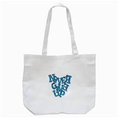 Sport Crossfit Fitness Gym Never Give Up Tote Bag (white)