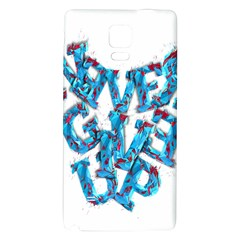 Sport Crossfit Fitness Gym Never Give Up Galaxy Note 4 Back Case