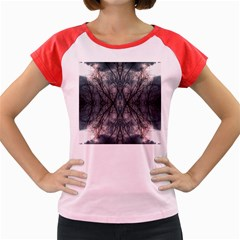 Storm Nature Clouds Landscape Tree Women s Cap Sleeve T-Shirt