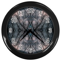 Storm Nature Clouds Landscape Tree Wall Clocks (black)