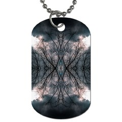 Storm Nature Clouds Landscape Tree Dog Tag (Two Sides)