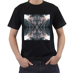 Storm Nature Clouds Landscape Tree Men s T Shirt (black) (two Sided)