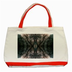 Storm Nature Clouds Landscape Tree Classic Tote Bag (Red)