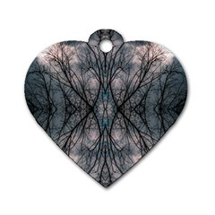 Storm Nature Clouds Landscape Tree Dog Tag Heart (One Side)