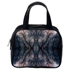 Storm Nature Clouds Landscape Tree Classic Handbags (one Side)