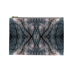 Storm Nature Clouds Landscape Tree Cosmetic Bag (Large)