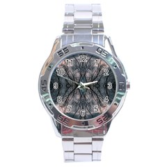 Storm Nature Clouds Landscape Tree Stainless Steel Analogue Watch
