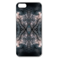 Storm Nature Clouds Landscape Tree Apple Seamless Iphone 5 Case (clear)