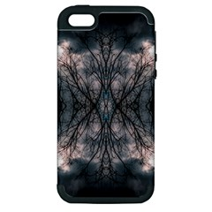 Storm Nature Clouds Landscape Tree Apple iPhone 5 Hardshell Case (PC+Silicone)