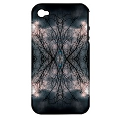 Storm Nature Clouds Landscape Tree Apple iPhone 4/4S Hardshell Case (PC+Silicone)