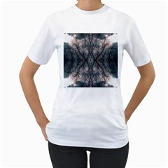 Storm Nature Clouds Landscape Tree Women s T Shirt (white)