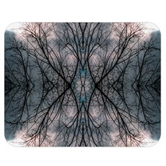 Storm Nature Clouds Landscape Tree Double Sided Flano Blanket (Medium)