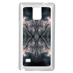 Storm Nature Clouds Landscape Tree Samsung Galaxy Note 4 Case (White)
