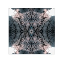 Storm Nature Clouds Landscape Tree Small Satin Scarf (square)