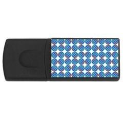 Geometric Dots Pattern Rainbow USB Flash Drive Rectangular (1 GB)