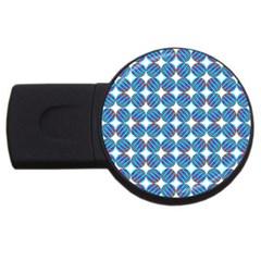Geometric Dots Pattern Rainbow USB Flash Drive Round (4 GB)