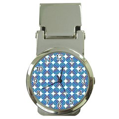 Geometric Dots Pattern Rainbow Money Clip Watches